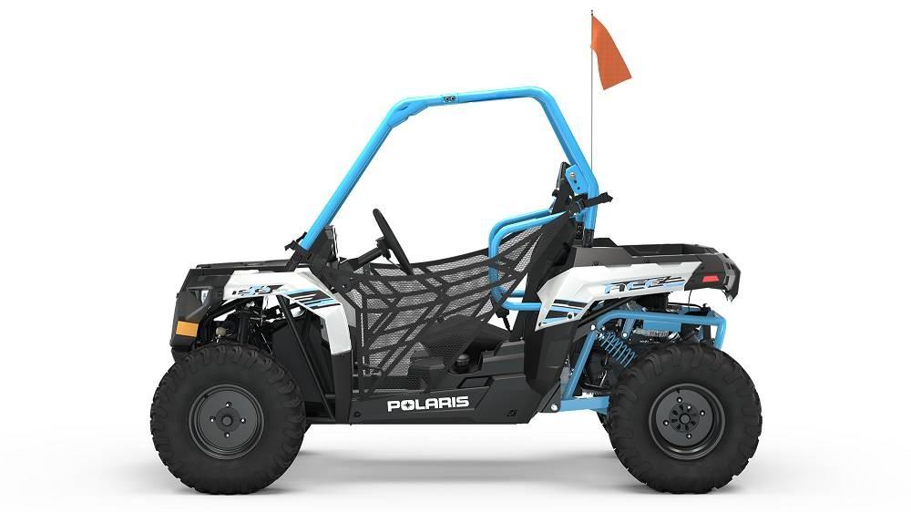 Polaris ACE 150 EFI WHITE LIGHTNING & SKY BLUE