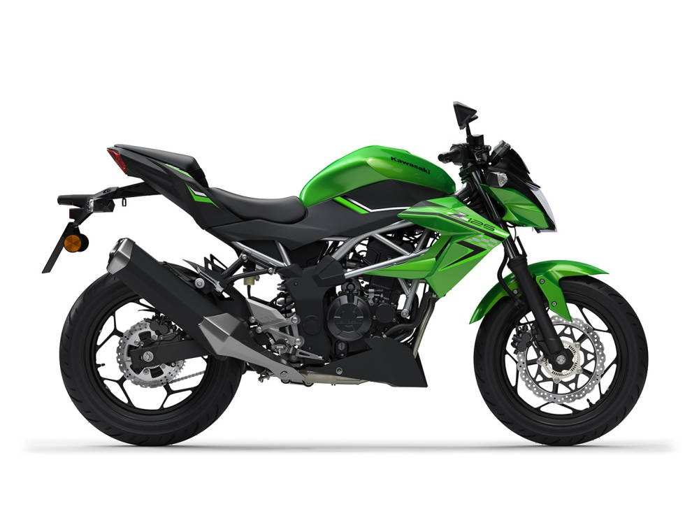 Kawasaki Z125 2021 - verde, negru
